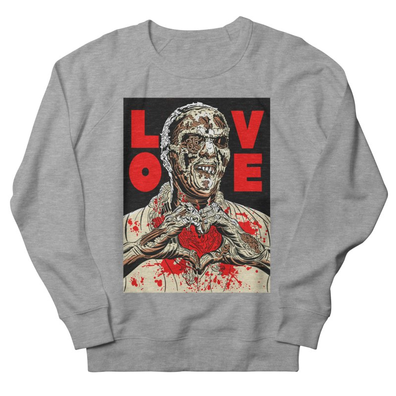 Zombie Love Men's French Terry Sweatshirt by Mitch O'Connell