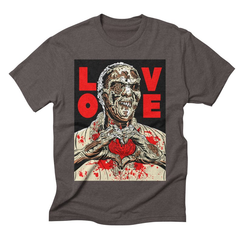 Zombie Love Men's Triblend T-Shirt by Mitch O'Connell