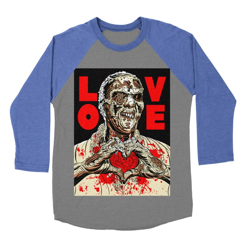 Zombie Love Men's Baseball Triblend Longsleeve T-Shirt by Mitch O'Connell