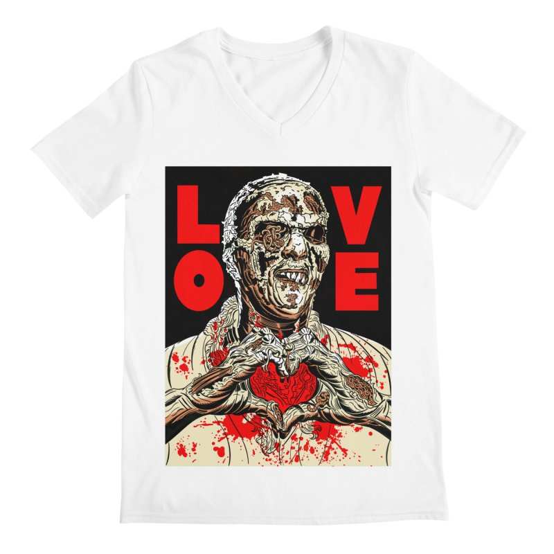 Zombie Love Men's V-Neck by Mitch O'Connell