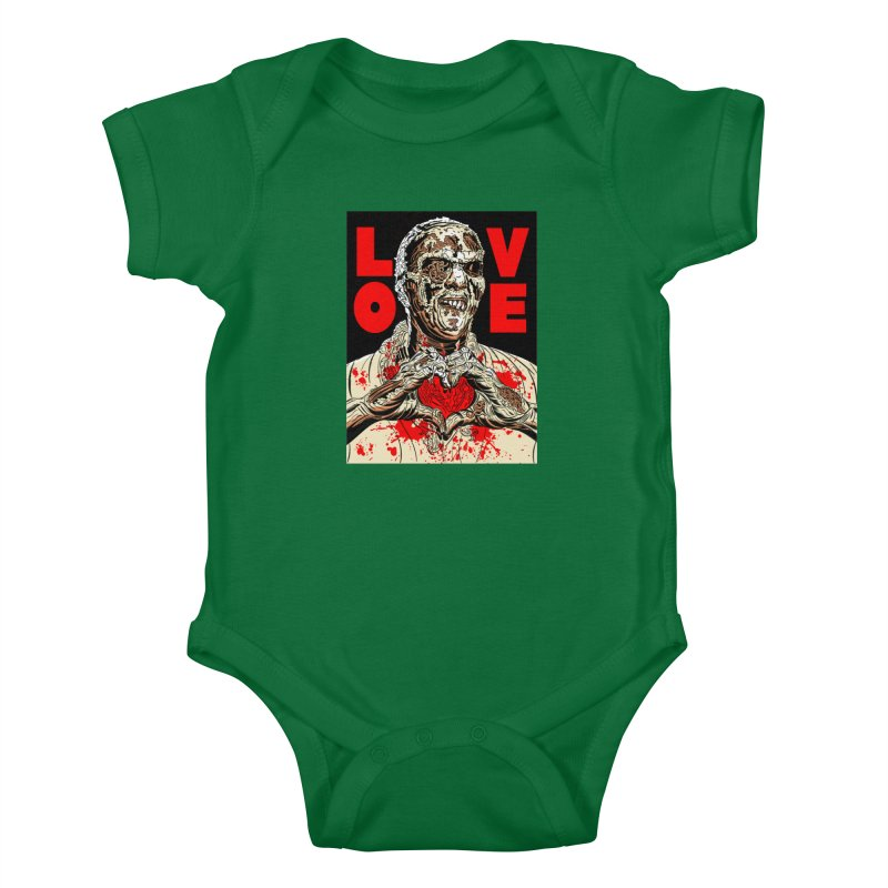 Zombie Love Kids Baby Bodysuit by Mitch O'Connell
