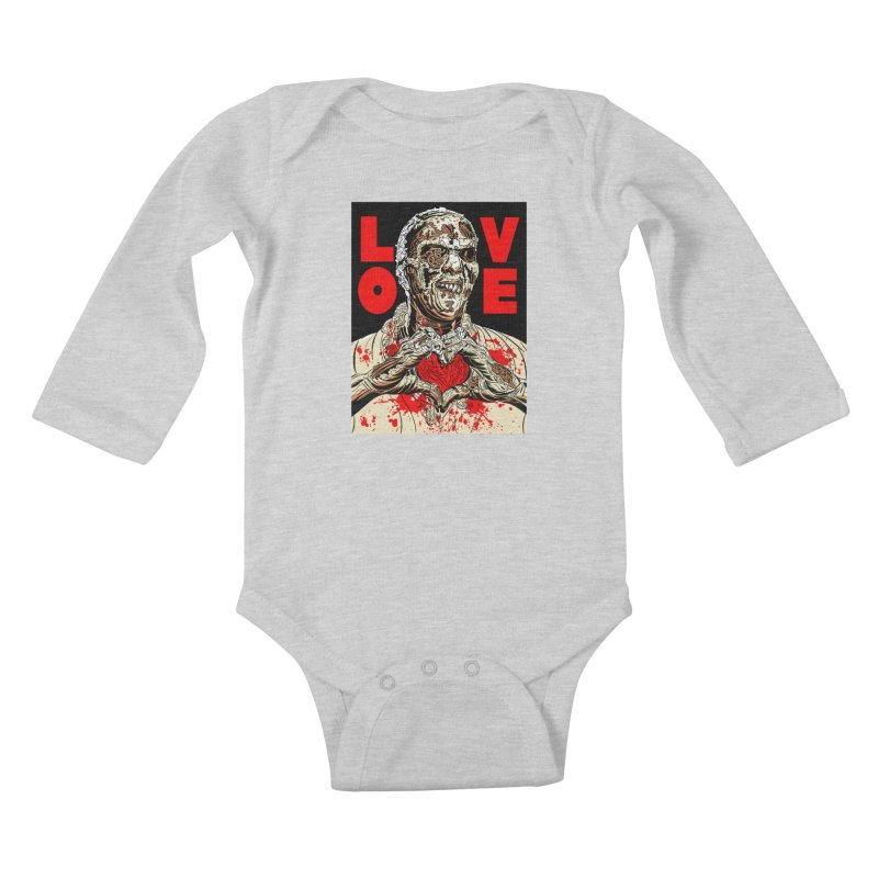 Zombie Love Kids Baby Longsleeve Bodysuit by Mitch O'Connell