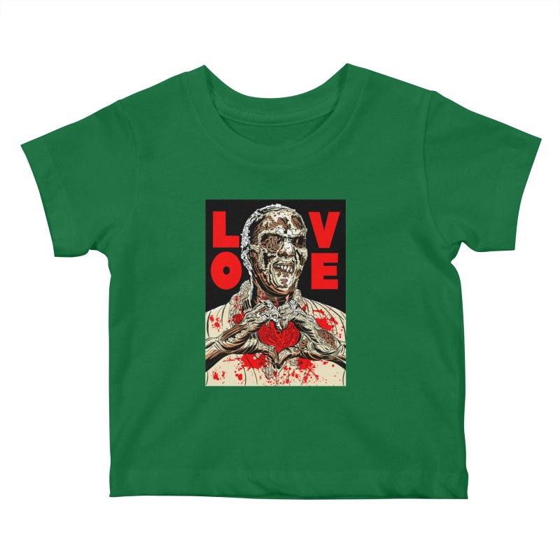 Zombie Love Kids Baby T-Shirt by Mitch O'Connell