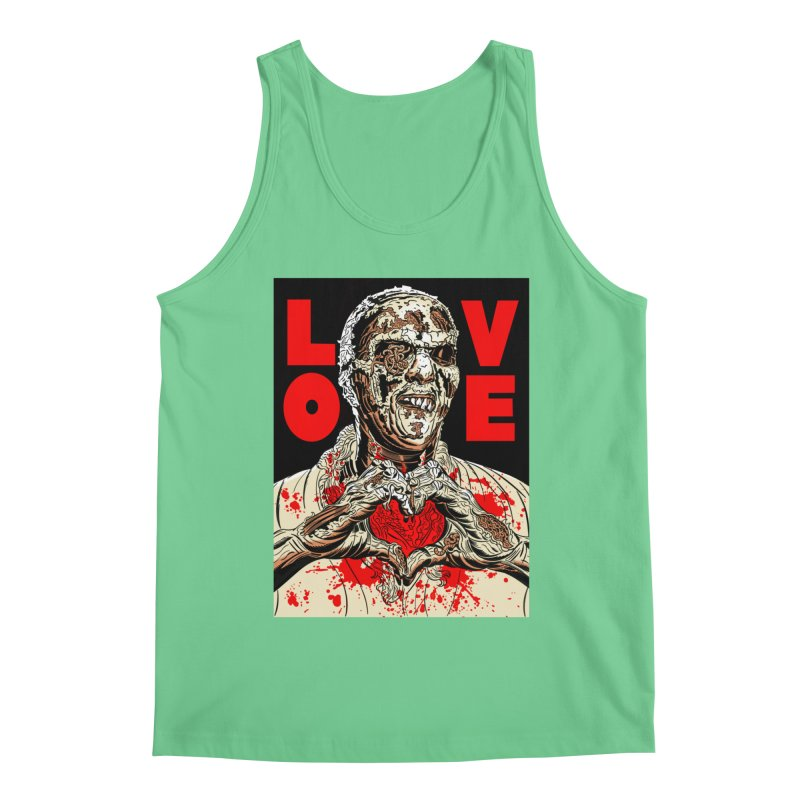 Zombie Love Men's Regular Tank by Mitch O'Connell