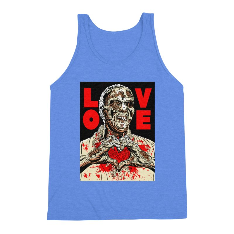 Zombie Love Men's Triblend Tank by Mitch O'Connell