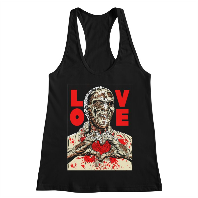 Zombie Love Women's Racerback Tank by Mitch O'Connell