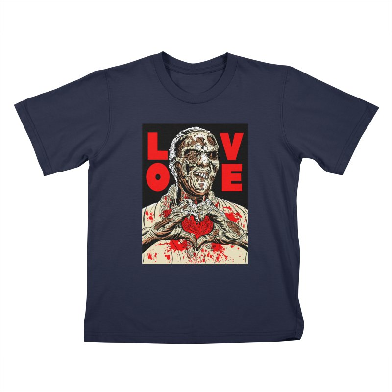 Zombie Love Kids T-Shirt by Mitch O'Connell