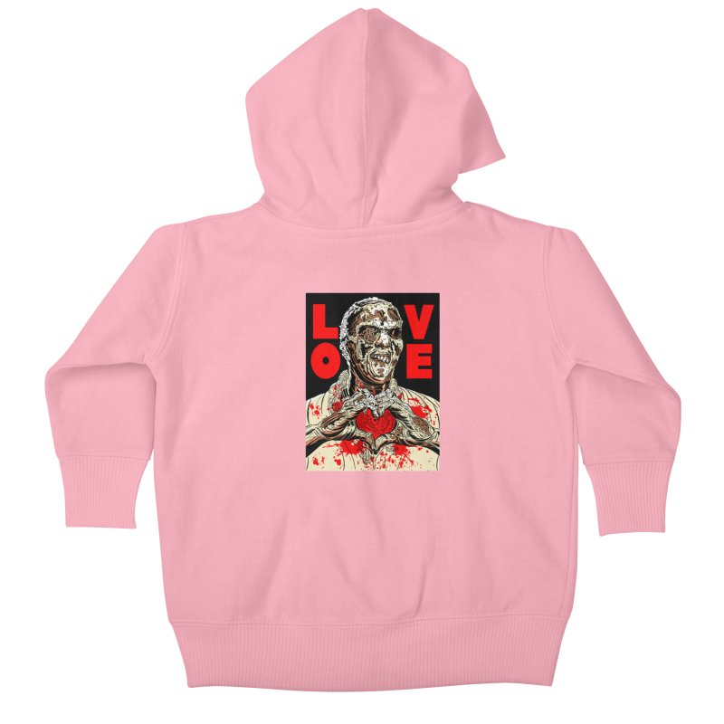 Zombie Love Kids Baby Zip-Up Hoody by Mitch O'Connell