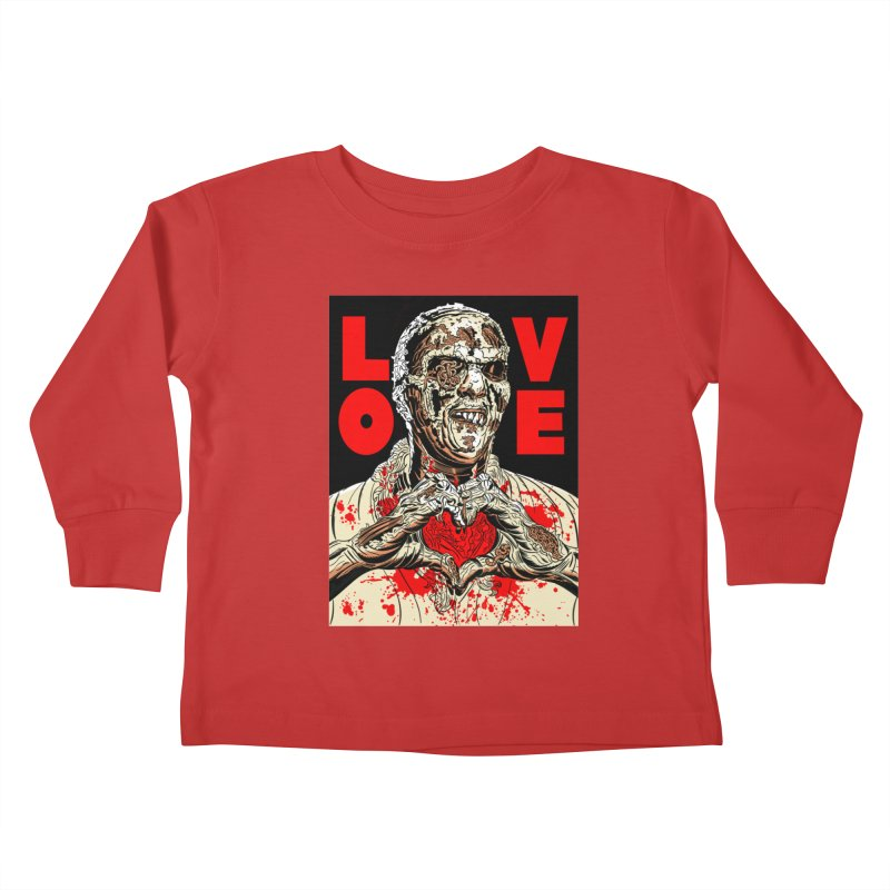 Zombie Love Kids Toddler Longsleeve T-Shirt by Mitch O'Connell