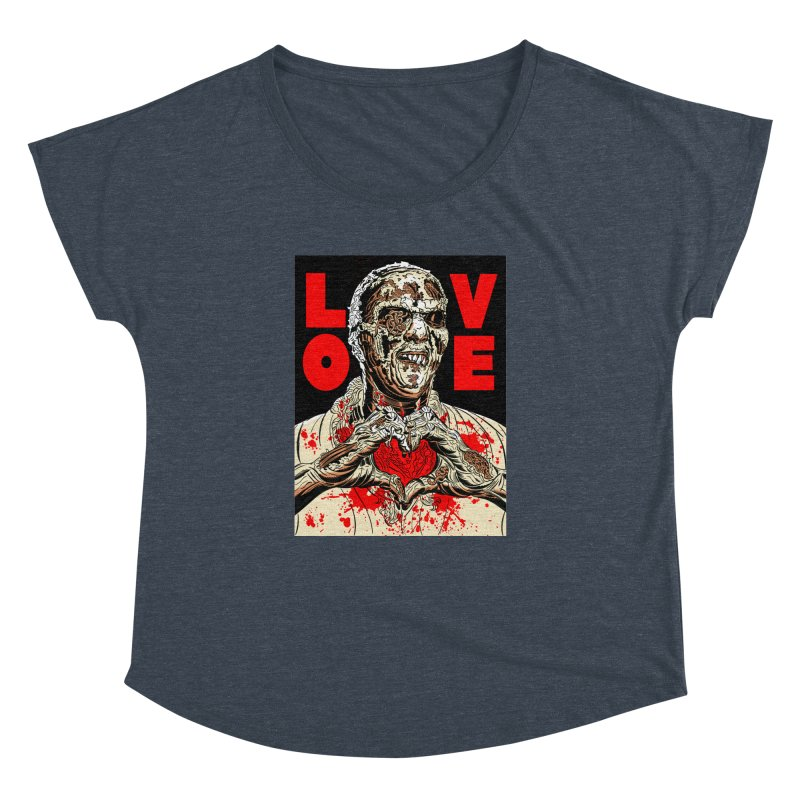 Zombie Love Women's Dolman Scoop Neck by Mitch O'Connell