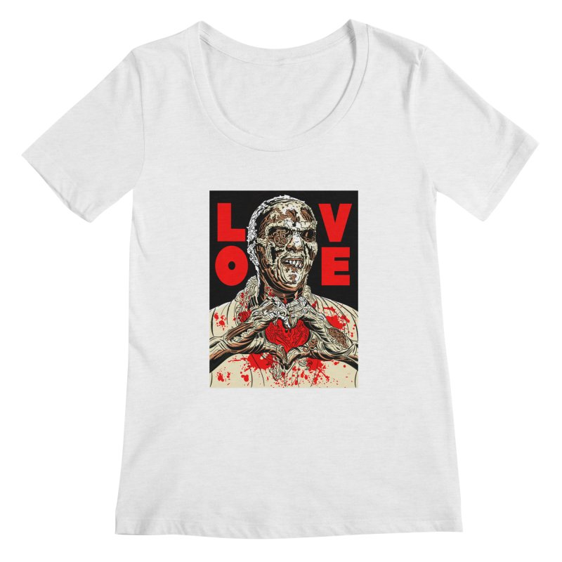 Zombie Love Women's Regular Scoop Neck by Mitch O'Connell