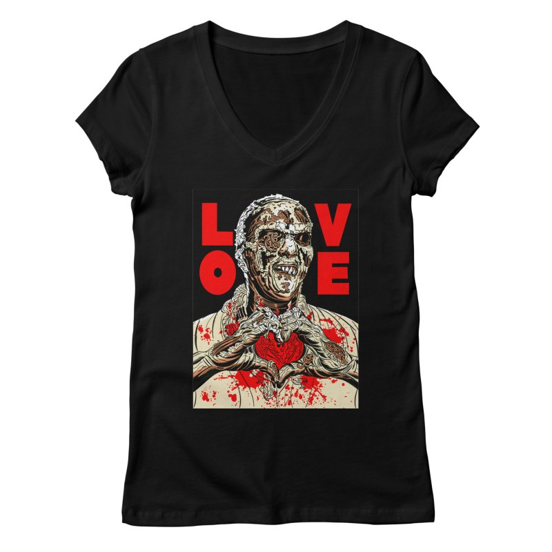 Zombie Love Women's V-Neck by Mitch O'Connell