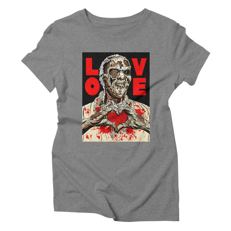 Zombie Love Women's Triblend T-Shirt by Mitch O'Connell