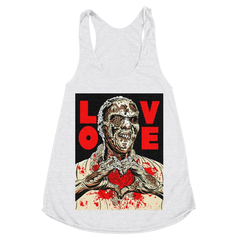 Zombie Love Women's Racerback Triblend Tank by Mitch O'Connell