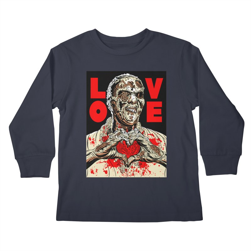 Zombie Love Kids Longsleeve T-Shirt by Mitch O'Connell
