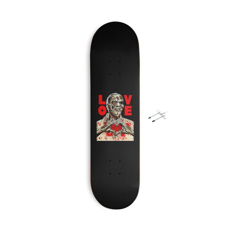 Zombie Love Accessories With Hanging Hardware Skateboard by Mitch O'Connell