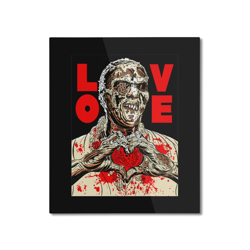 Zombie Love Home Mounted Aluminum Print by Mitch O'Connell