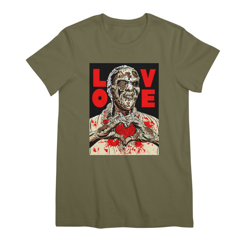 Zombie Love Women's Premium T-Shirt by Mitch O'Connell