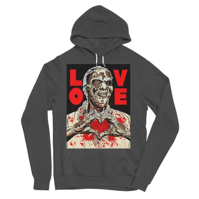 Zombie Love Men's Sponge Fleece Pullover Hoody by Mitch O'Connell