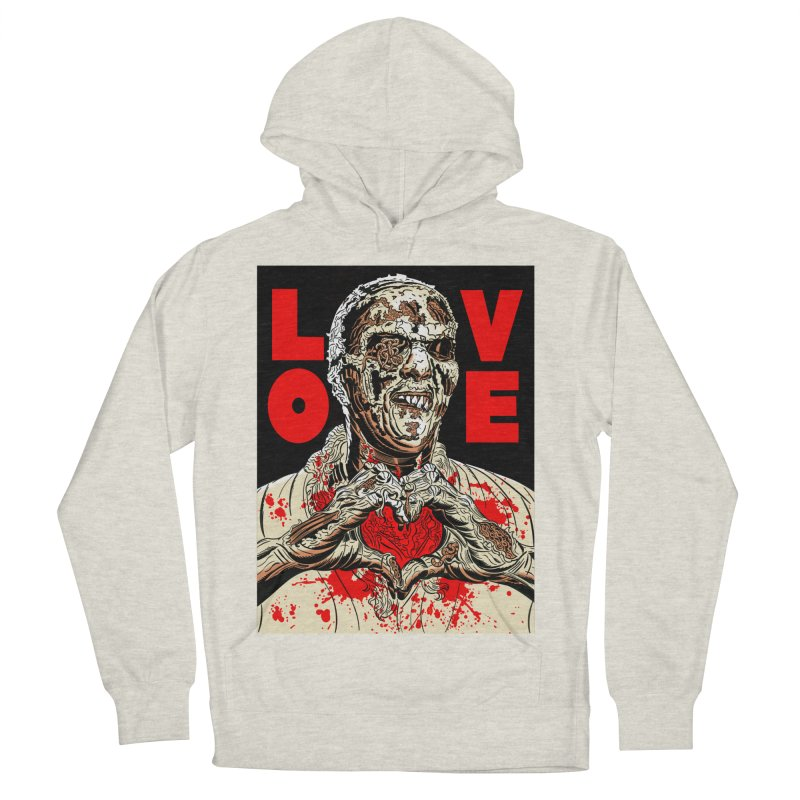 Zombie Love Women's French Terry Pullover Hoody by Mitch O'Connell