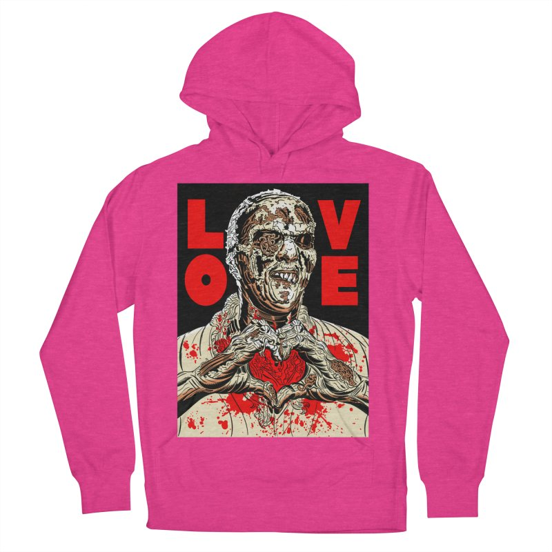 Zombie Love Men's French Terry Pullover Hoody by Mitch O'Connell