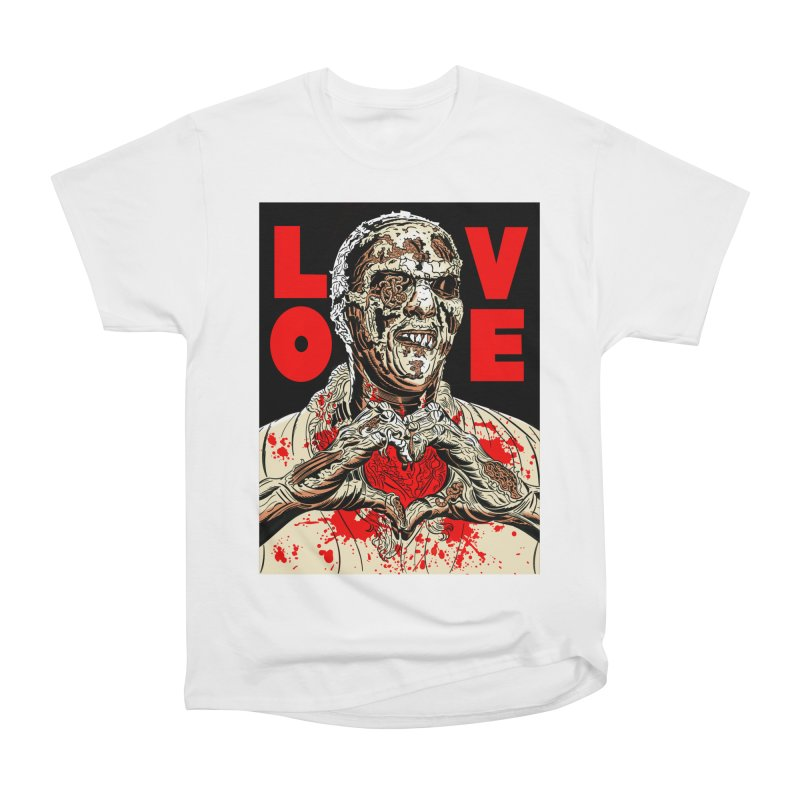 Zombie Love Women's Heavyweight Unisex T-Shirt by Mitch O'Connell