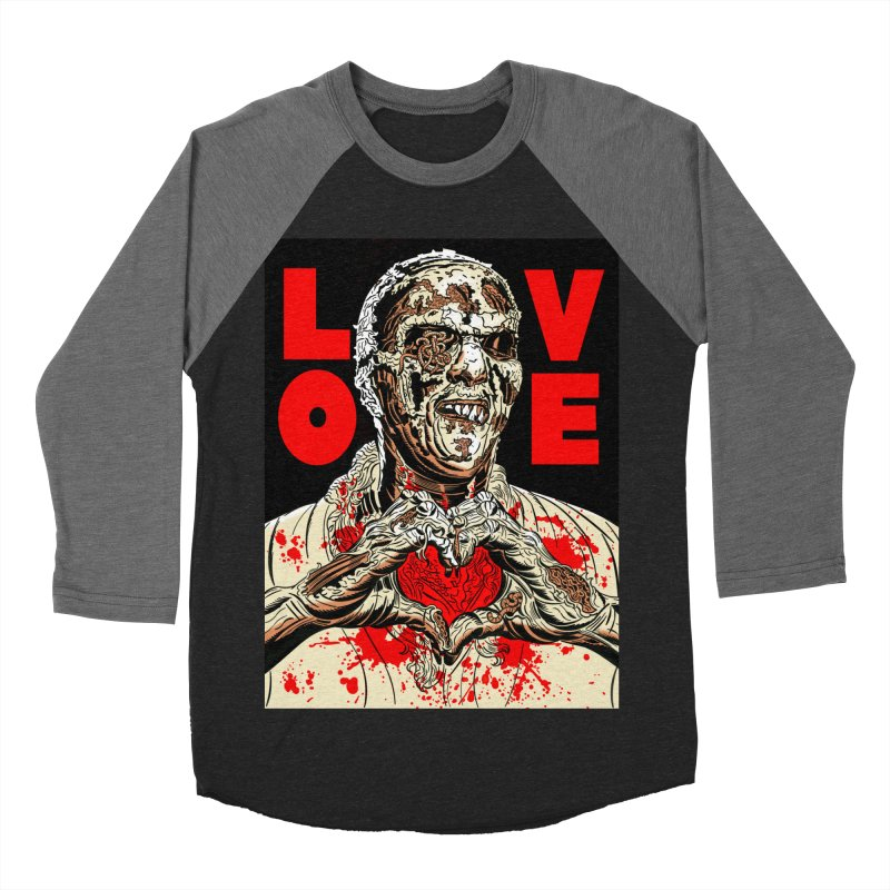 Zombie Love Women's Baseball Triblend Longsleeve T-Shirt by Mitch O'Connell