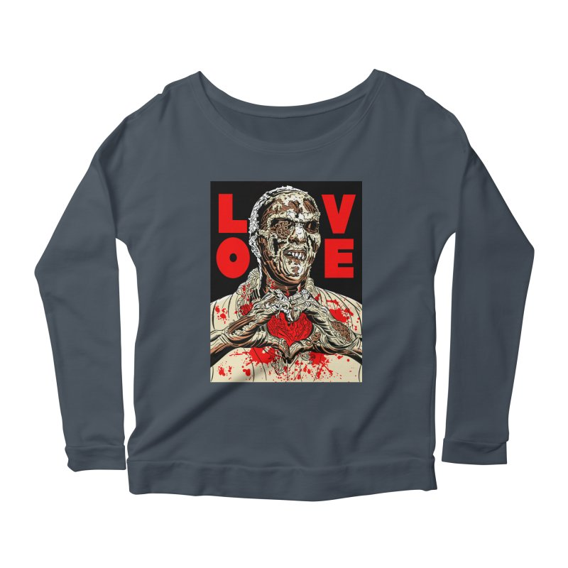 Zombie Love Women's Scoop Neck Longsleeve T-Shirt by Mitch O'Connell