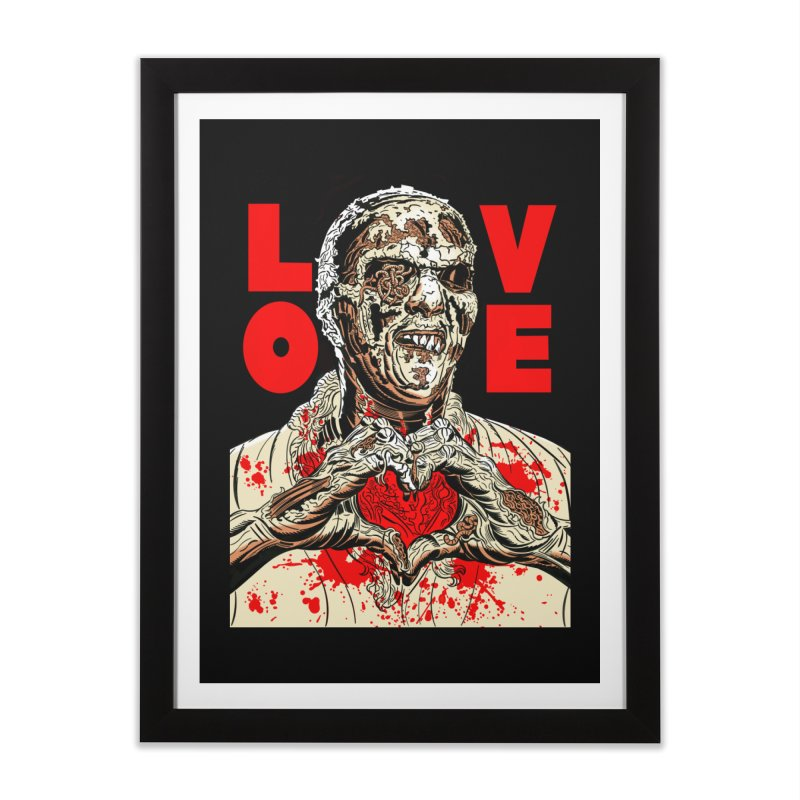 Zombie Love Home Framed Fine Art Print by Mitch O'Connell