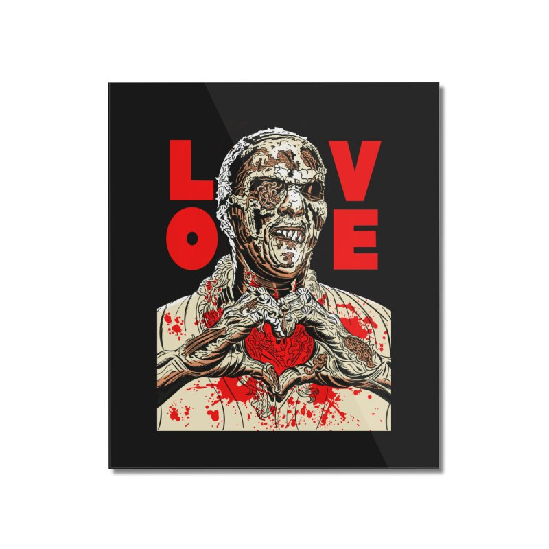 Zombie Love Home Mounted Acrylic Print by Mitch O'Connell