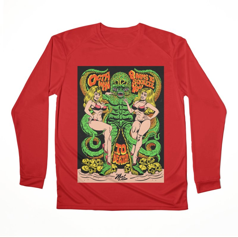Octaman! Men's Performance Longsleeve T-Shirt by Mitch O'Connell