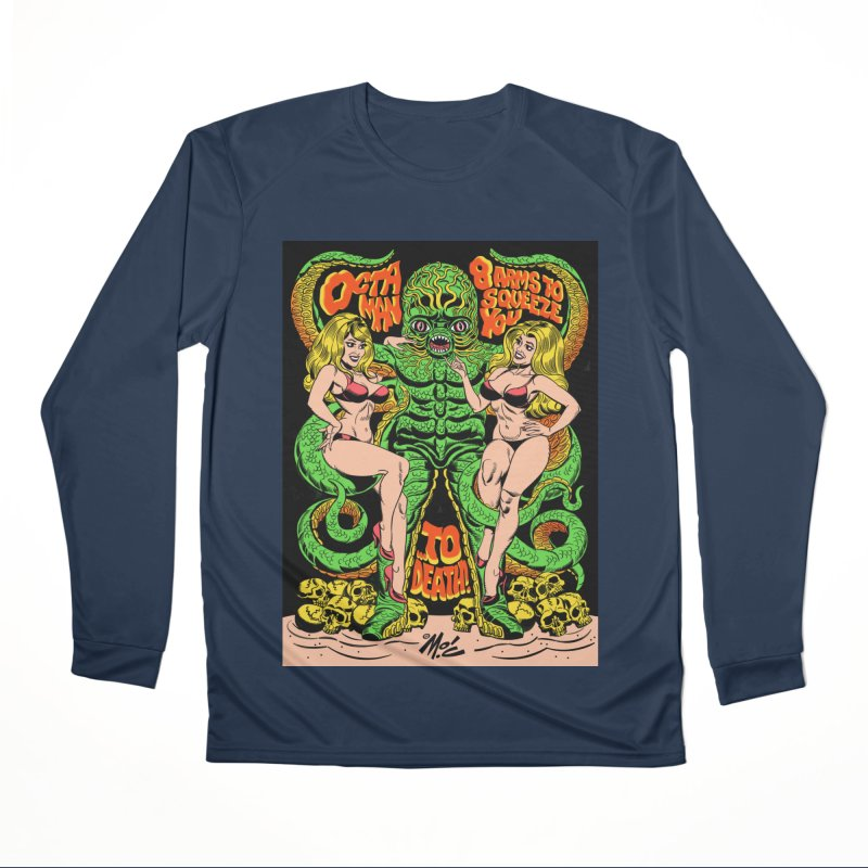 Octaman! Women's Performance Unisex Longsleeve T-Shirt by Mitch O'Connell
