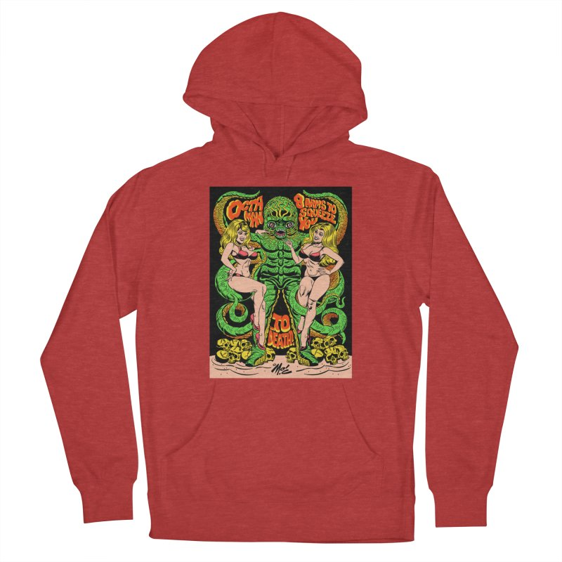 Octaman! Women's French Terry Pullover Hoody by Mitch O'Connell
