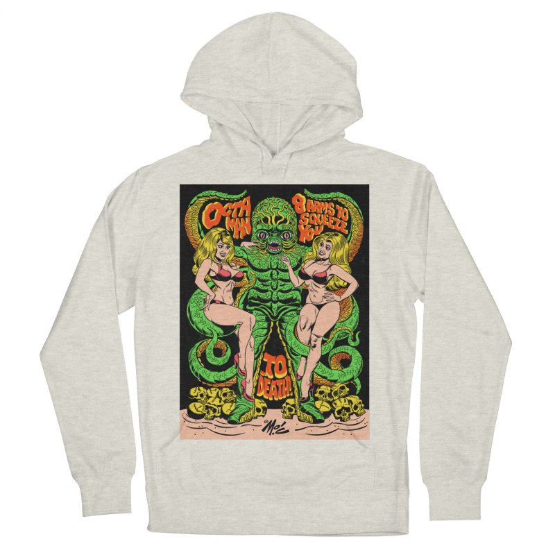 Octaman! Men's French Terry Pullover Hoody by Mitch O'Connell