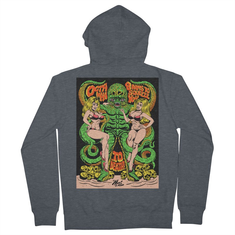 Octaman! Women's French Terry Zip-Up Hoody by Mitch O'Connell
