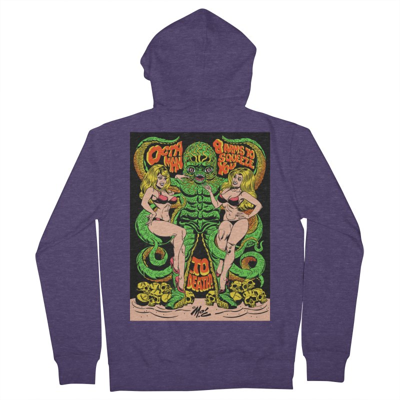 Octaman! Men's French Terry Zip-Up Hoody by Mitch O'Connell