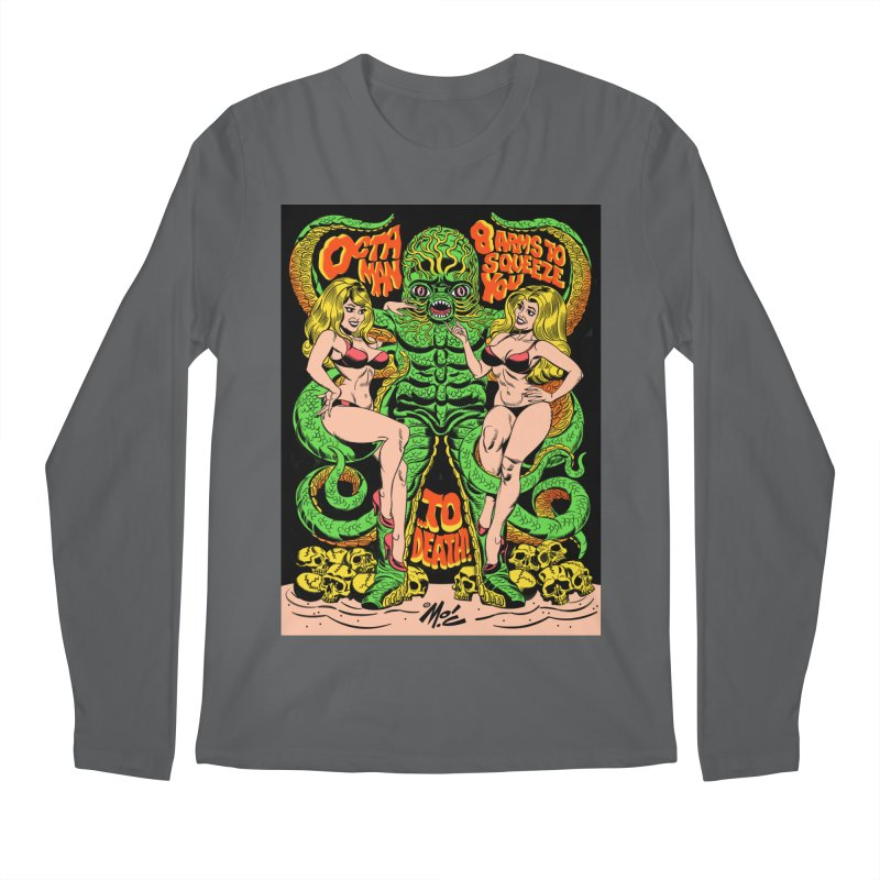 Octaman! Men's Regular Longsleeve T-Shirt by Mitch O'Connell