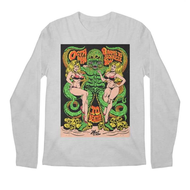 Octaman! Men's Regular Longsleeve T-Shirt by Mitch O'Connell