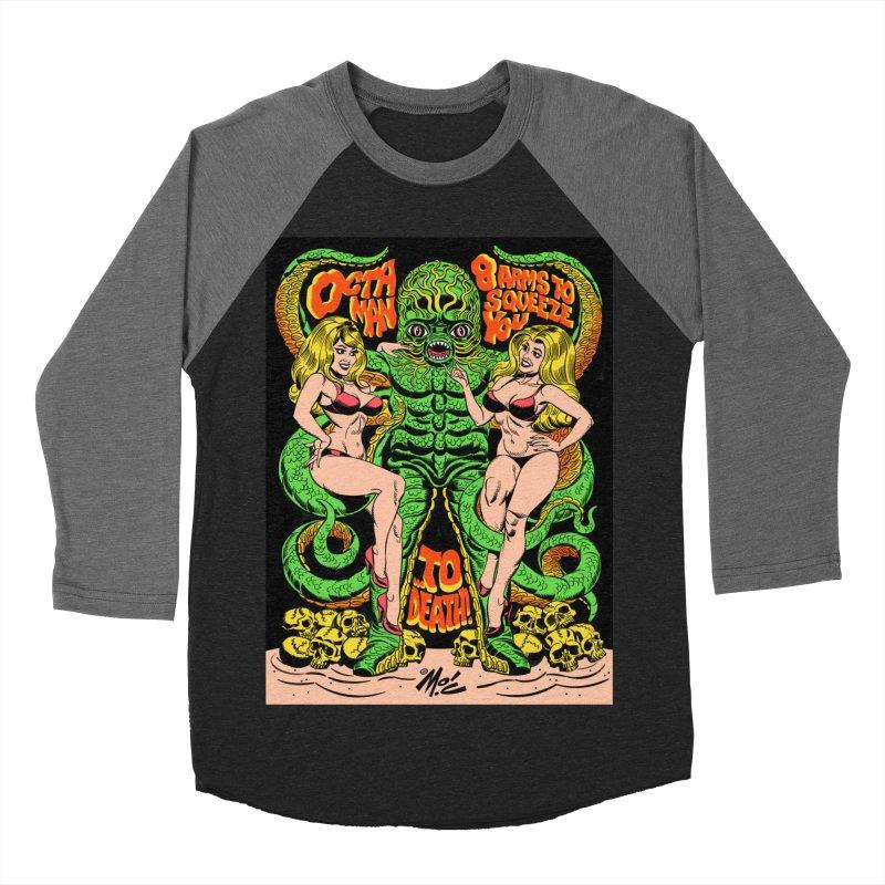 Octaman! Men's Baseball Triblend Longsleeve T-Shirt by Mitch O'Connell
