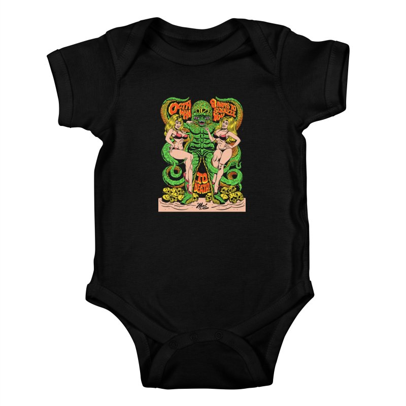 Octaman! Kids Baby Bodysuit by Mitch O'Connell