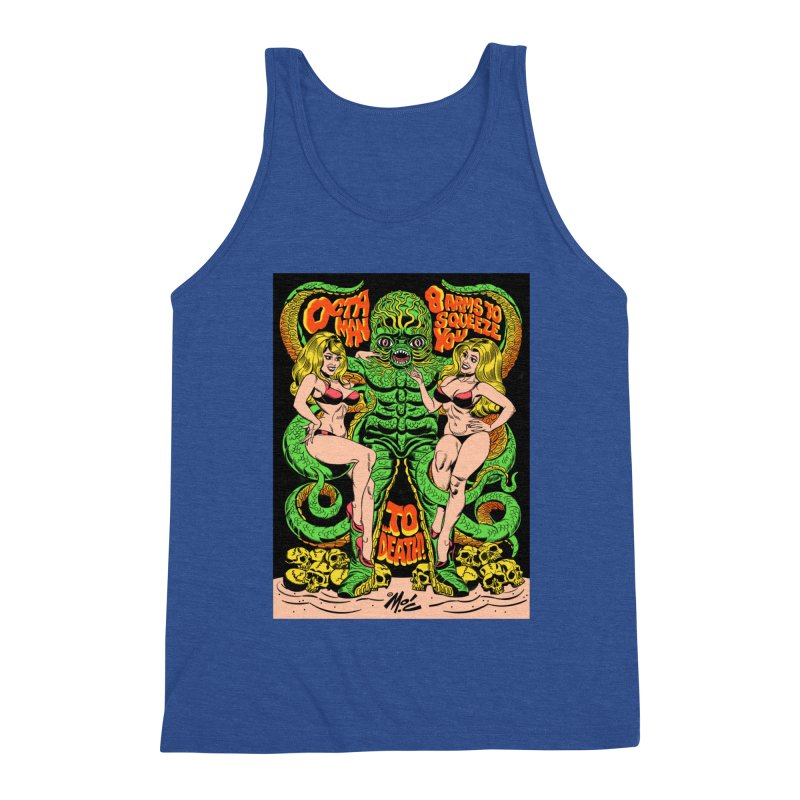 Octaman! Men's Triblend Tank by Mitch O'Connell