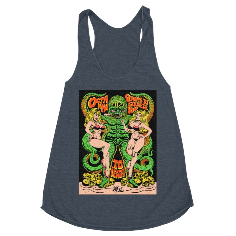 Octaman! Women's Racerback Triblend Tank by Mitch O'Connell