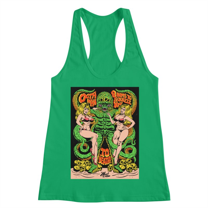 Octaman! Women's Racerback Tank by Mitch O'Connell
