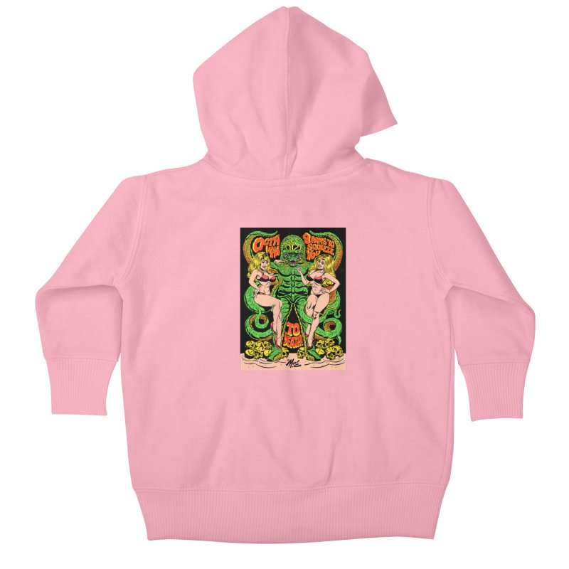Octaman! Kids Baby Zip-Up Hoody by Mitch O'Connell