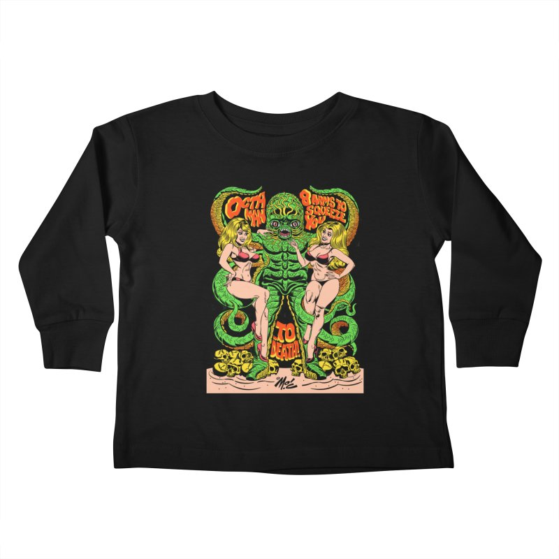 Octaman! Kids Toddler Longsleeve T-Shirt by Mitch O'Connell