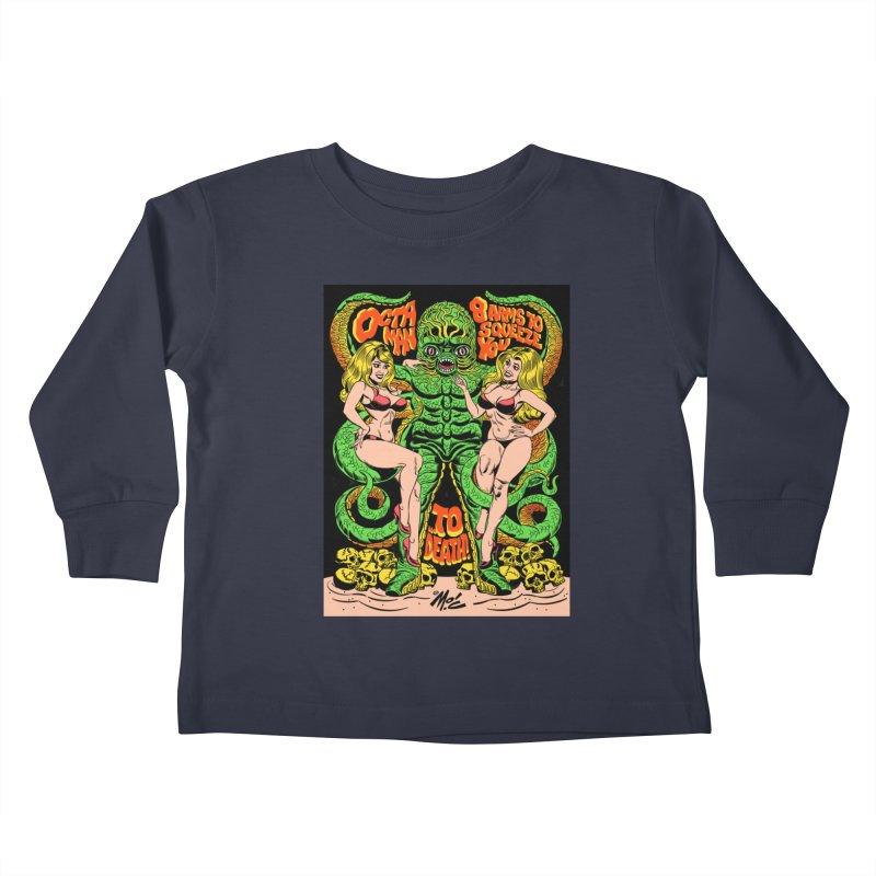 Octaman! Kids Toddler Longsleeve T-Shirt by Mitch O'Connell