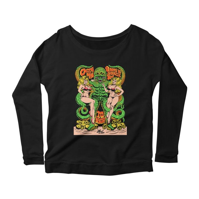 Octaman! Women's Scoop Neck Longsleeve T-Shirt by Mitch O'Connell