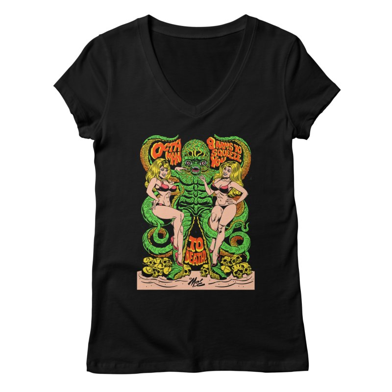 Octaman! Women's V-Neck by Mitch O'Connell