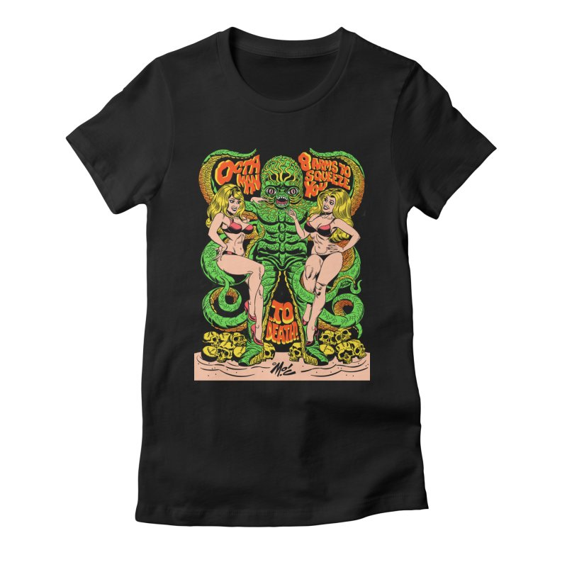 Octaman! Women's Fitted T-Shirt by Mitch O'Connell