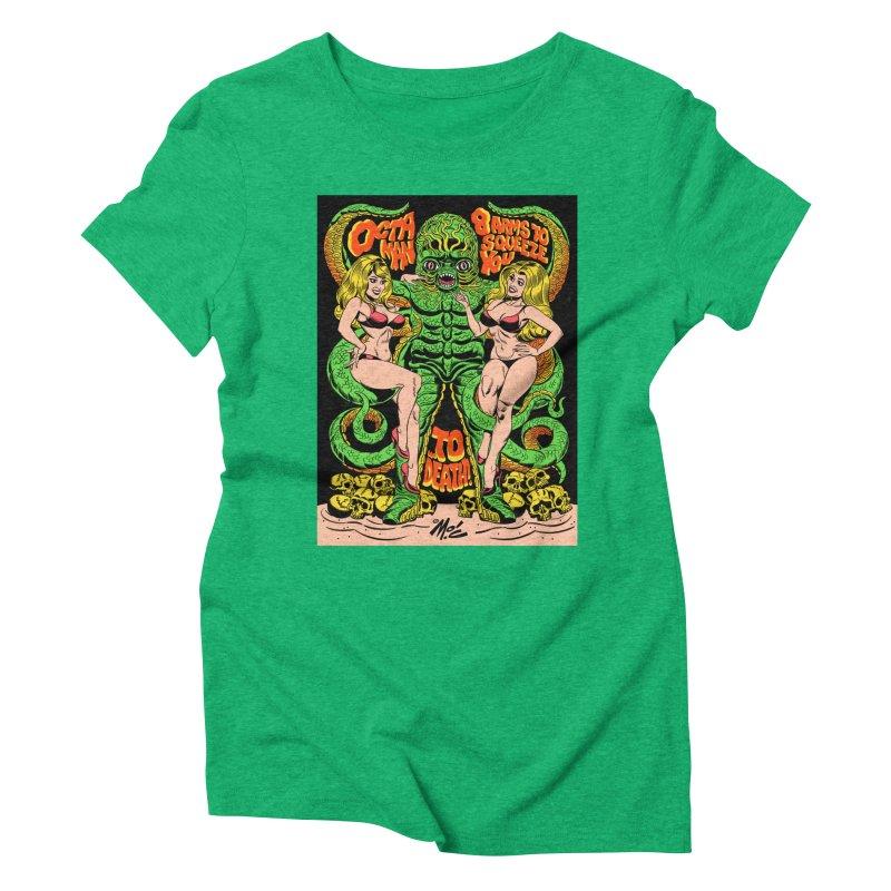 Octaman! Women's Triblend T-Shirt by Mitch O'Connell